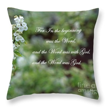 Bridal Wreath Christian Art Throw Pillow