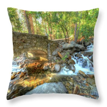 Bridalveil Creek At Yosemite By Michael Tidwell Throw Pillow