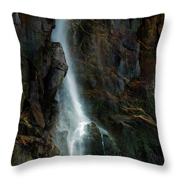 Throw Pillow featuring the photograph Bridalveil Falls In Autumn by Bill Gallagher