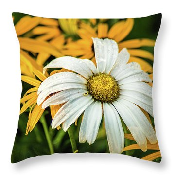 Throw Pillow featuring the photograph Bride And Bridesmaids by Bill Pevlor