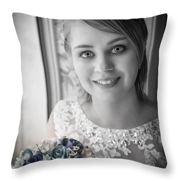 Bride At Window Throw Pillow