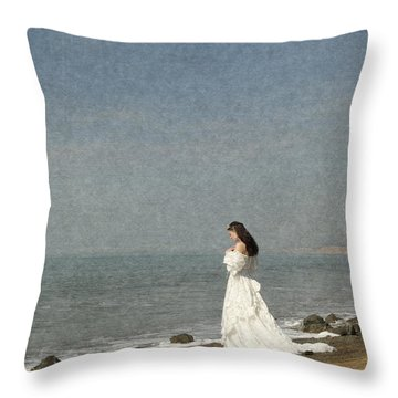 Bride By The Sea Throw Pillow