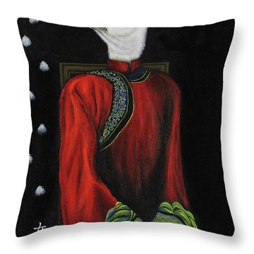 Bride On The Left Throw Pillow