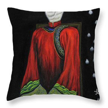 Bride On The Right Throw Pillow