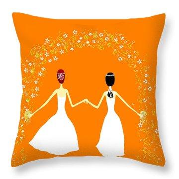 Brides Throw Pillow