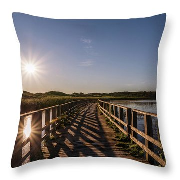Throw Pillow featuring the photograph Bridge Across Shining Waters by Chris Bordeleau