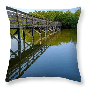 Bridge Across The Bayou Throw Pillow
