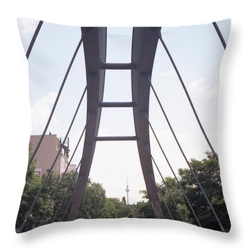 Bridge And Alexanderplatz Tower Throw Pillow
