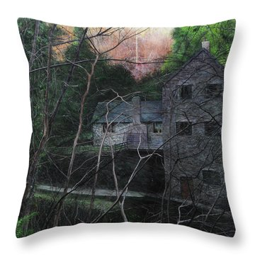 Bridge At Bontuchel Throw Pillow