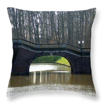 Bridge At Castle Nordkirchen Throw Pillow