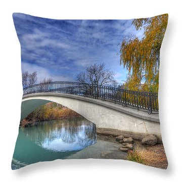 Bridge At Elizabeth Park Throw Pillow