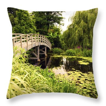 Bridge At Petersburg Throw Pillow
