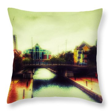 Throw Pillow featuring the photograph Bridge At Salford Quays by Isabella F Abbie Shores FRSA