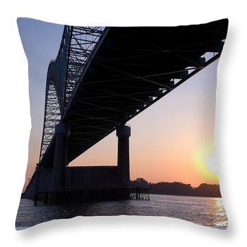Bridge Over Mississippi River Throw Pillow