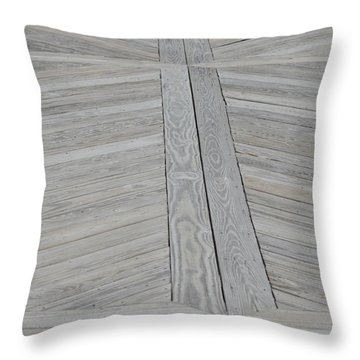 Bridge Floor Throw Pillow by Linda Geiger