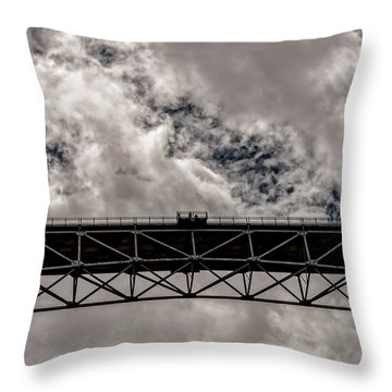 Bridge From Below Throw Pillow