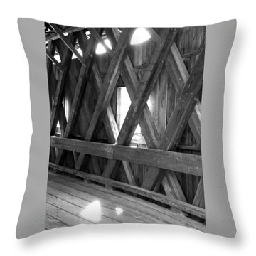 Throw Pillow featuring the photograph Bridge Glow by Greg Fortier