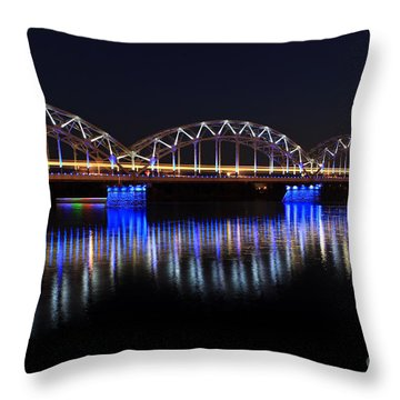 Bridge In Riga  Throw Pillow