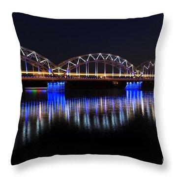 Bridge In Riga  Throw Pillow