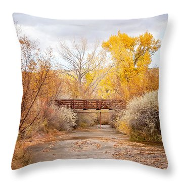 Bridge In Teasdale Throw Pillow