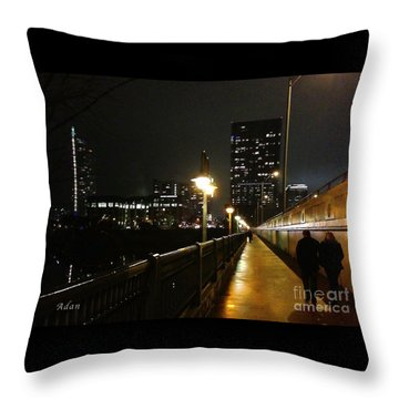Bridge Into The Night Throw Pillow by Felipe Adan Lerma