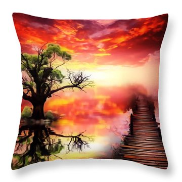Bridge Into The Unknown Throw Pillow