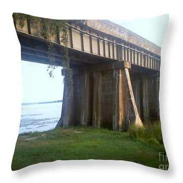 Bridge In Leesylvania Park Va Throw Pillow