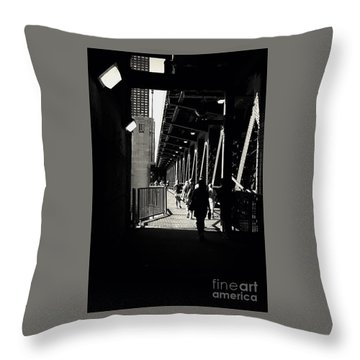 Bridge - Lower Lake Shore Drive At Navy Pier Chicago. Throw Pillow