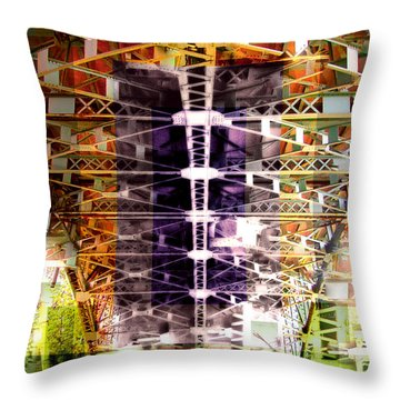 Bridge Throw Pillow by Marko Mitic