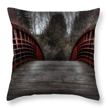 Throw Pillow featuring the photograph Bridge by Michaela Preston