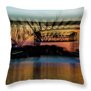 Bridge Motion Throw Pillow