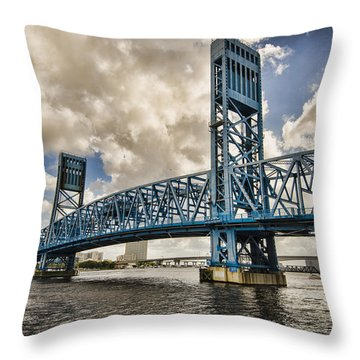 Bridge Of Blues Throw Pillow by Anthony Baatz