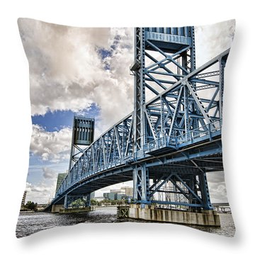 Bridge Of Blues II Throw Pillow