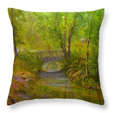 Bridge Of Delight Throw Pillow
