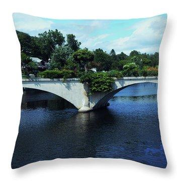 Bridge Of Flowers Throw Pillow