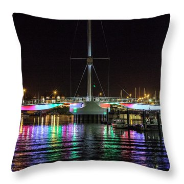 Bridge Of Lights Throw Pillow