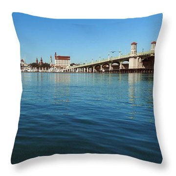 Bridge Of Lions, St. Augustine Throw Pillow
