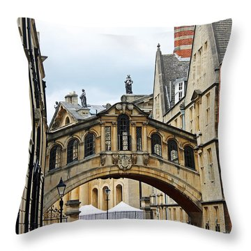 Bridge Of Sighs Throw Pillow