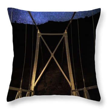 Throw Pillow featuring the photograph Bridge Of Stars by Cat Connor