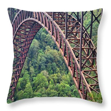 Bridge Of Trees Throw Pillow