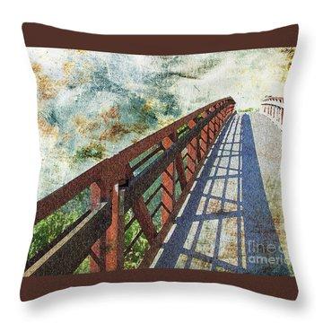 Bridge Over Clouds Throw Pillow