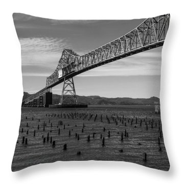 Throw Pillow featuring the photograph Bridge Over Columbia by Jeff Kolker