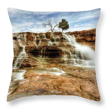 Bridge Over Desert Water Throw Pillow