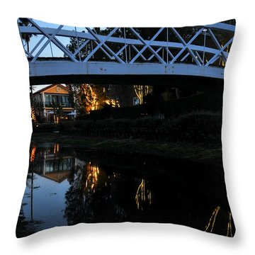 Bridge Over Lights Throw Pillow