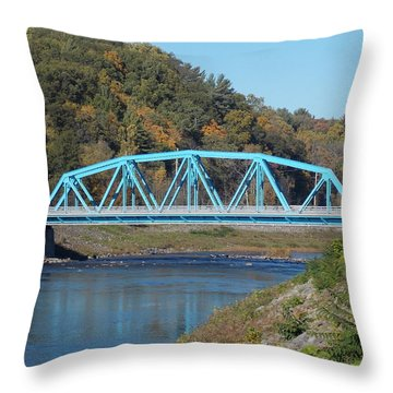 Bridge Over Rondout Creek 2 Throw Pillow