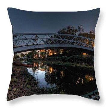 Bridge Over Shadows Throw Pillow