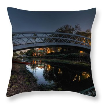 Bridge Over Shadows Throw Pillow