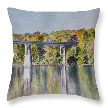 Bridge Over The Cumberland Throw Pillow