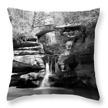 Stone Bridge Over The Falls Throw Pillow