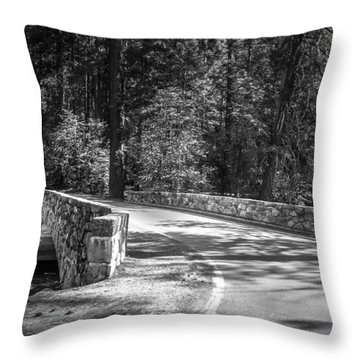 Throw Pillow featuring the photograph Bridge Over The Merced by Ryan Photography